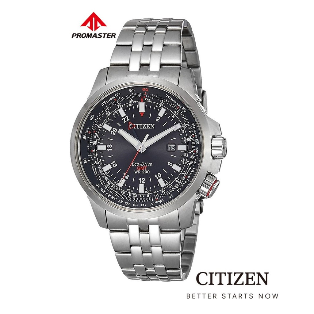 CITIZEN Eco-Drive BJ7071-54E GMT Pilot Promaster Men's Watch