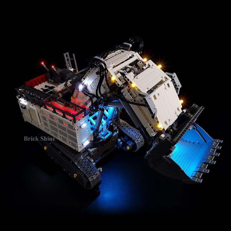 Bs บล็อคตัวต่อมีไฟ Led สําหรับ Lego Liebherr Excavator 42100