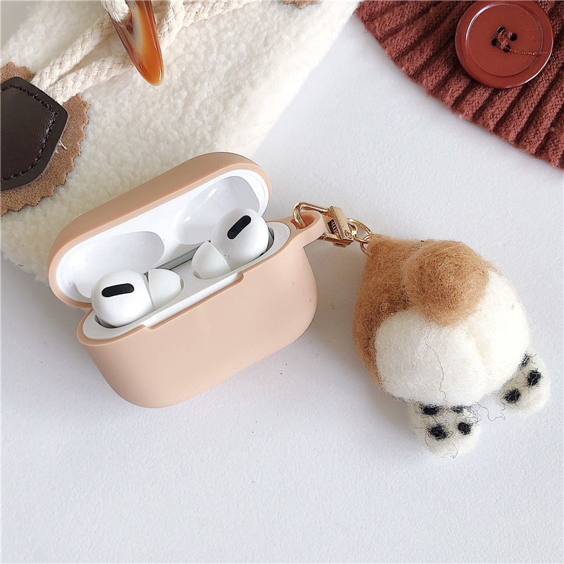 AirPods 3 Case Corgi Airpods 1/2 Case Silicone AirPods Pro Case With Key Chain Pendant
