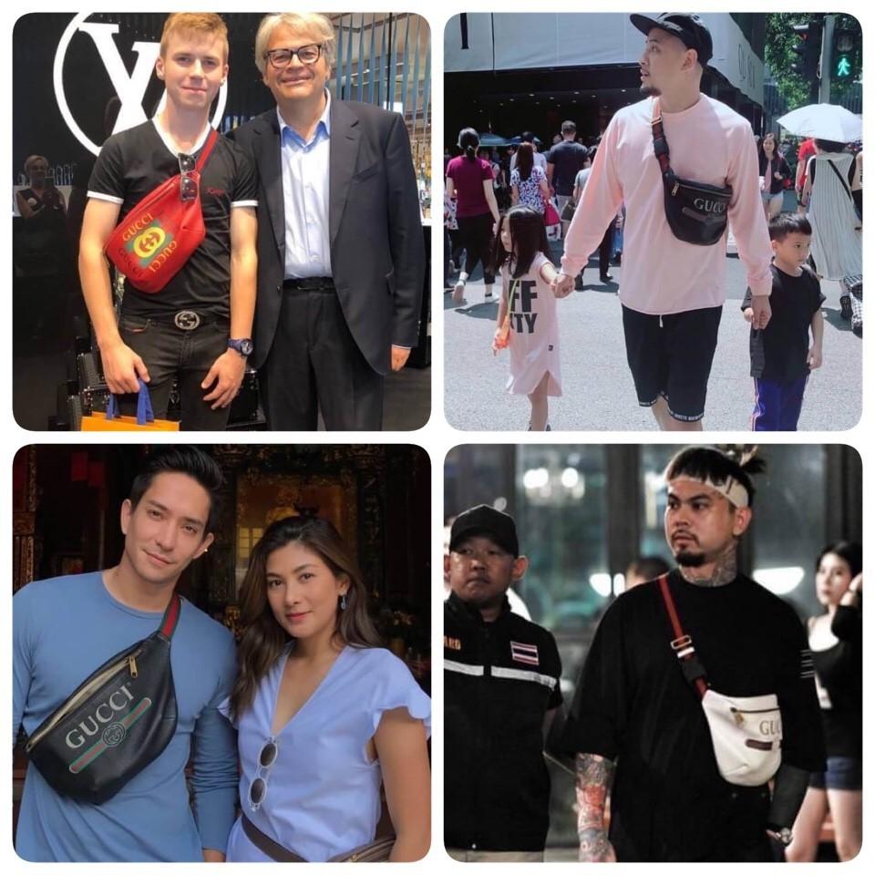 กระเป๋าคาดอกGUCCI Logo Belt Bag ไซส์ใหญ่ค่ะ ฮิตสุดชั่วโมงนี้😍 ดารา เซเลปใช้กันเยอะค่ะ