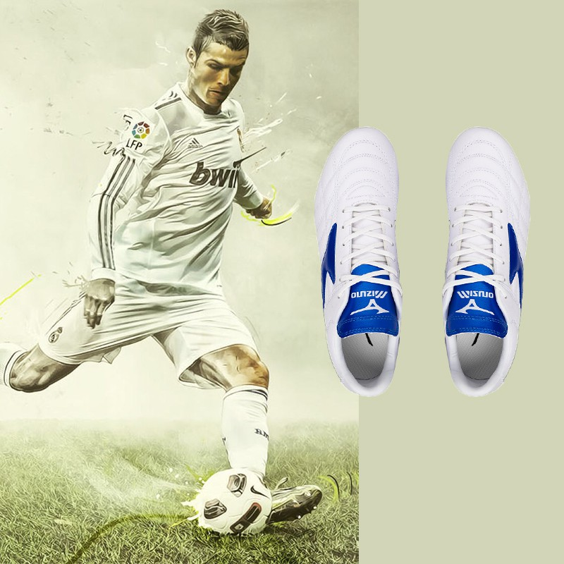 Mizuno Morelia Neo II FG Mizuno รองเท้าฟุตบอล Moreira Series FG Football Sole 39-45 สีดำ, สีขาว, สีเขียว