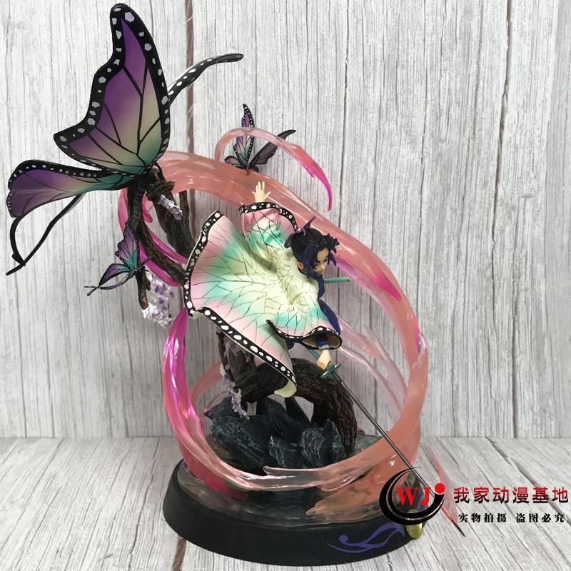 demon slayer☒Demon Slayer Blade GK Rubik s Cube Butterfly Ninja Figure Worm Pillar Statue Model Decoration อะนิเมะสองมิต