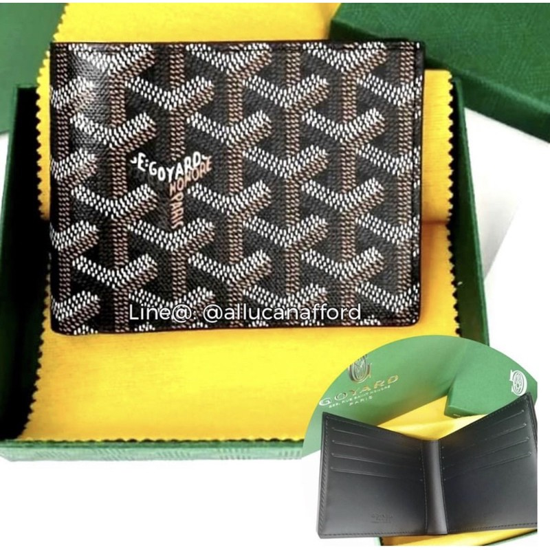New Goyard Wallet 8-Card in Black