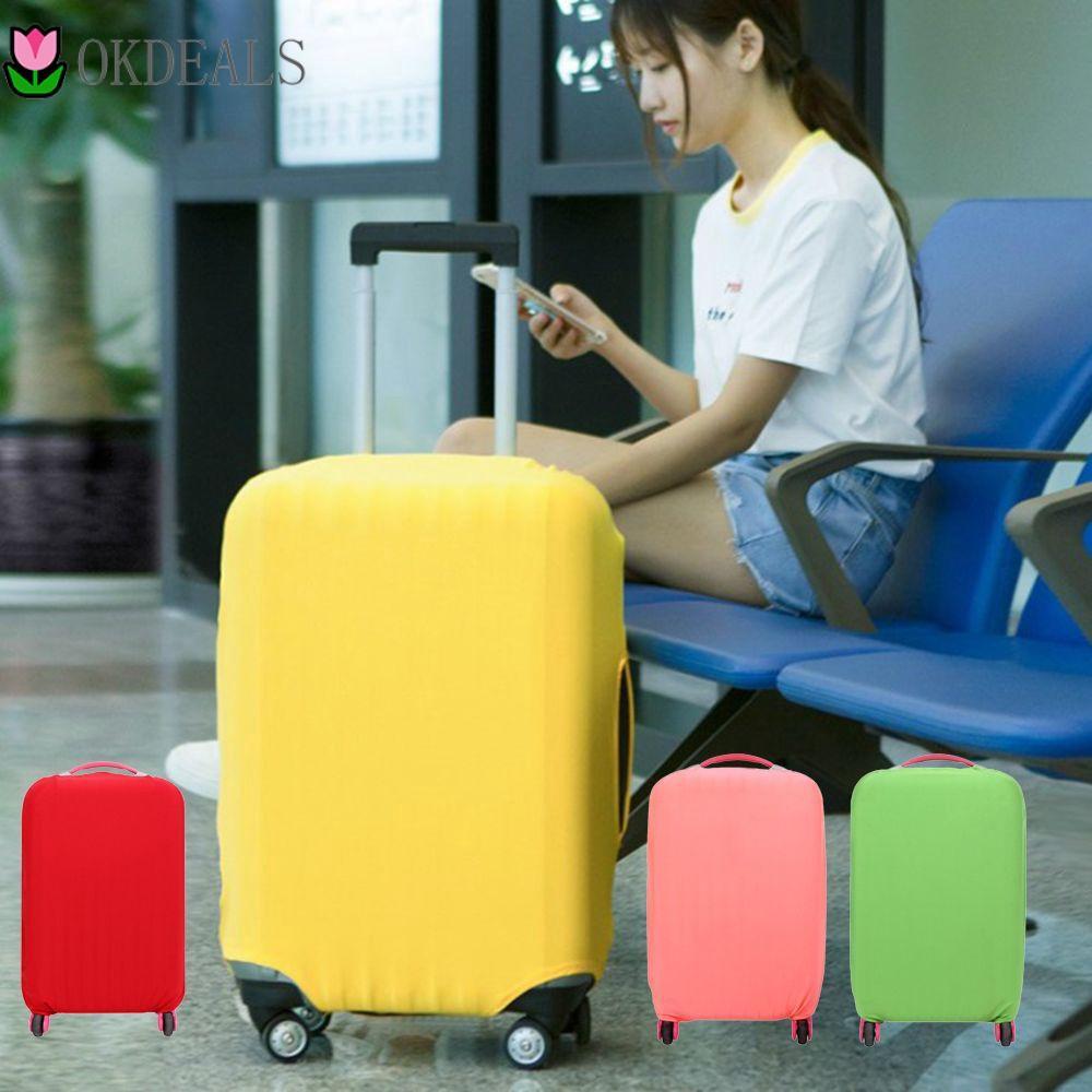 Okdeals ผ้าคลุมกระเป๋าเดินทางป้องกันรอยขีดข่วน 18-30 นิ้ว