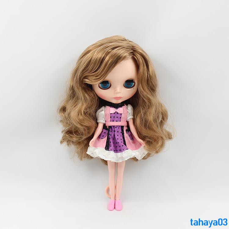 b102dcd5f91f Great value sale Blythe small dolls Big head girl Wikipedia 19 joint body  linen brown long hair Suitable for changing ba