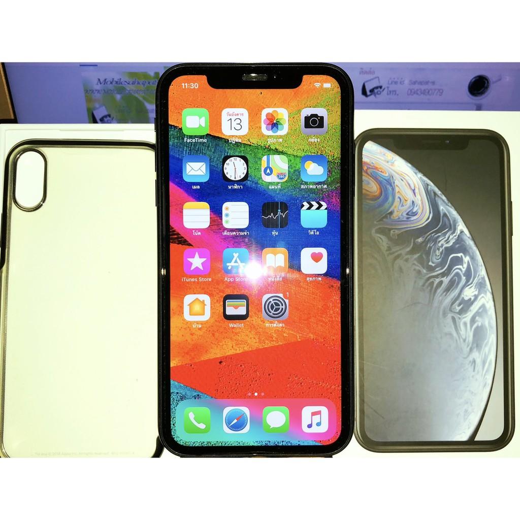 Apple iPhone XR Black 64Gเครื่องใหม่แกะเทส ประกันเกือบเต็ม