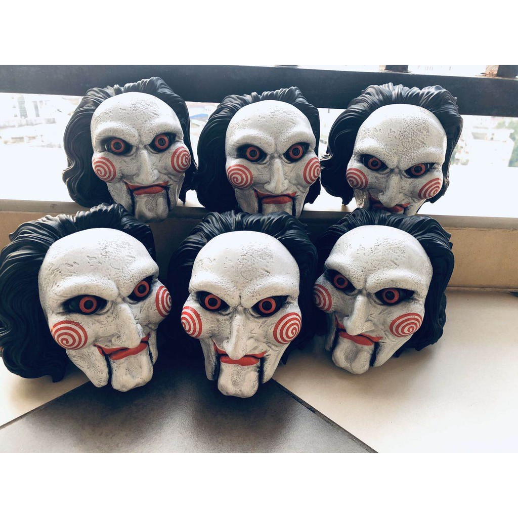1pcs Original High Quality Garage Kit Fit for 15'' Doll Figure Horror: Saw - Billy Head Sculpt Collectible Model Loose T