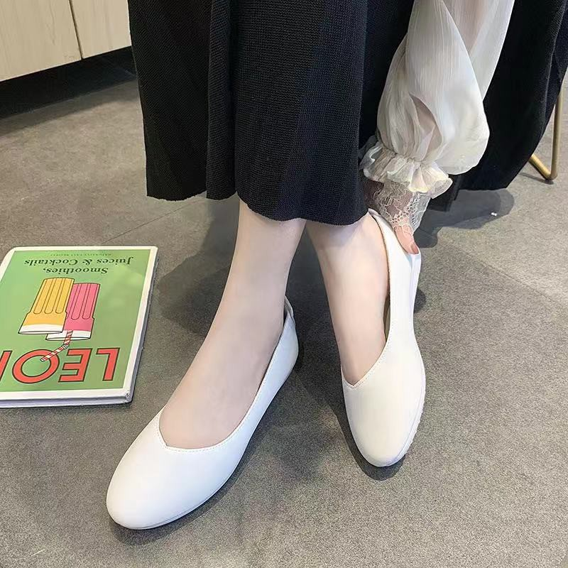 รองเท้าสลิปออนผู้หญิง﹍ รองเท้าคัชชู พื้นนิ่มใส่สบาย TP48
