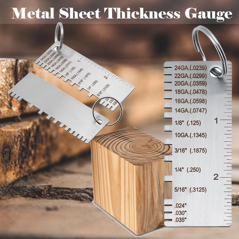 1Pc Metal Thickness Gauge Stainless Steel Wire//Metal Sheet Thickness Gauge