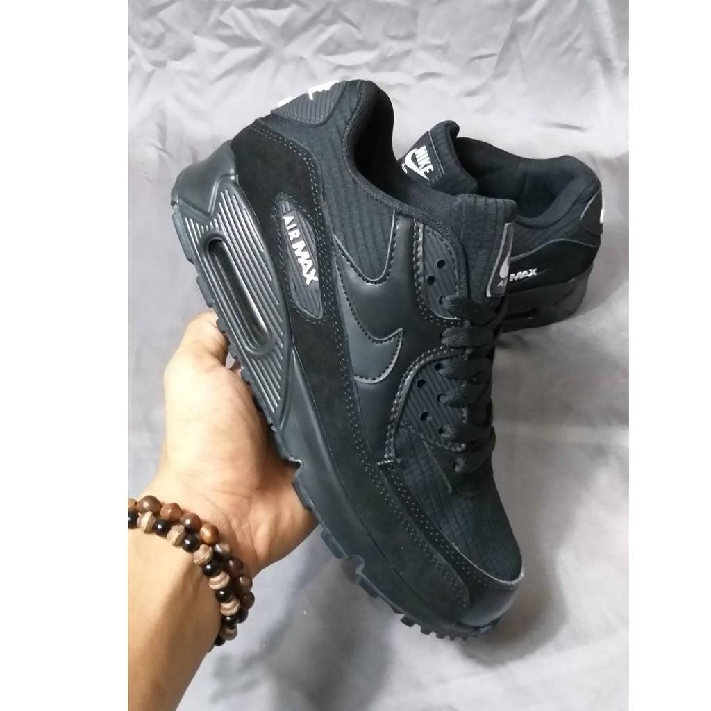 Nike Air Max 90 รองเท้าสําหรับผู้ชายสีดําพรีเมี่ยม