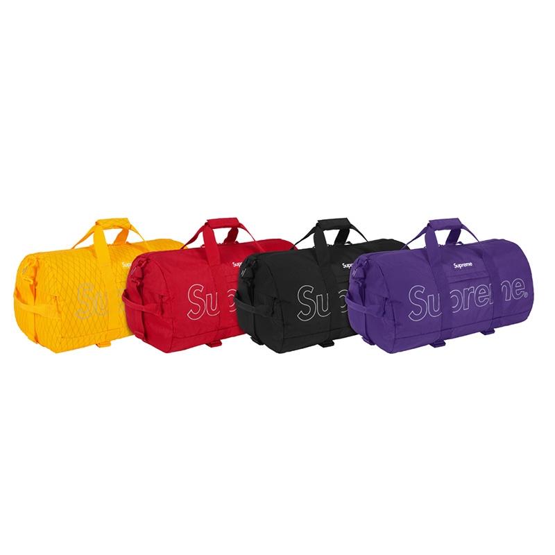 Supreme 18fw Duffle Bag 45th ผู้ชายและผู้หญิงถุงถังกระเป๋าเดินทางกระเป๋าถือกระเป๋า