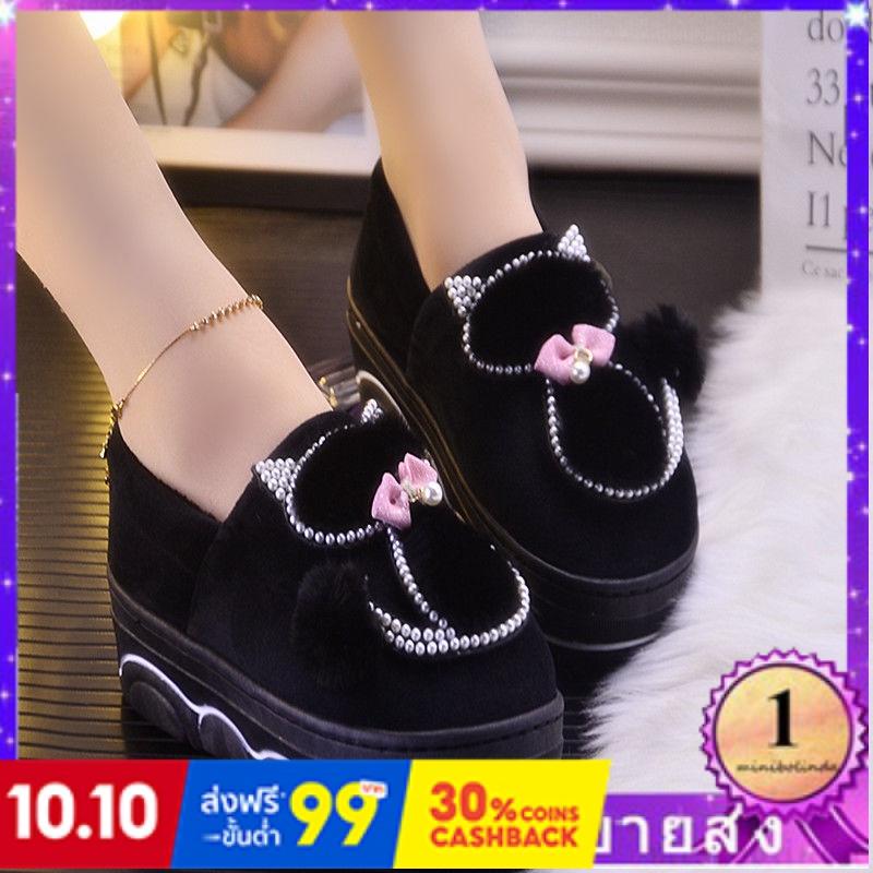 ⭐👠รองเท้าส้นสูง หัวแหลม ส้นเข็ม ใส่สบาย New Fshion รองเท้าคัชชูหัวแหลม  รองเท้าแฟชั่นผู้หญิงกระเป๋าด้วยรองเท้าแตะฝ้ายส้น