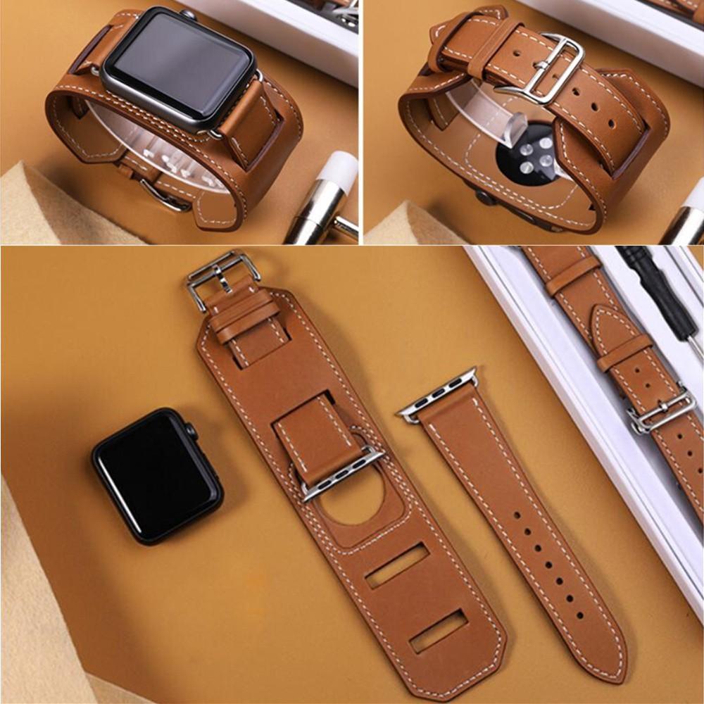 สายเปลี่ยนสำหรับ Apple Watch สายหนัง series 5 4 3 2 1 ขนาด 44มม. 42 มม. 40 มม. 38 มม. Single Tour 1:1 Genuine Leather Strap iWatch Band สายนาฬิกาข้อมือ Bracelet 38mm 40mm 42mm 44mm