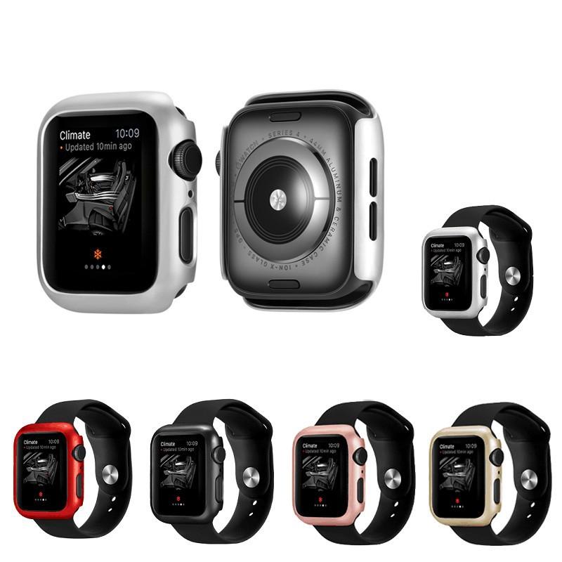 iWatch 6 Case Hard PC Matt Plating Anti-Scratch Frame Bumper Cover for Apple Watch Series 2/3/4/5/6/SE 38mm 42mm 40mm 44mm