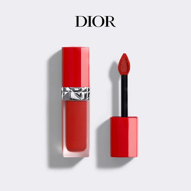 [ของขวัญคริสต์มาส] Dior Lit Blue Gold True Red Liquid Lipstick Tube Lip Glaze # 999 Matte