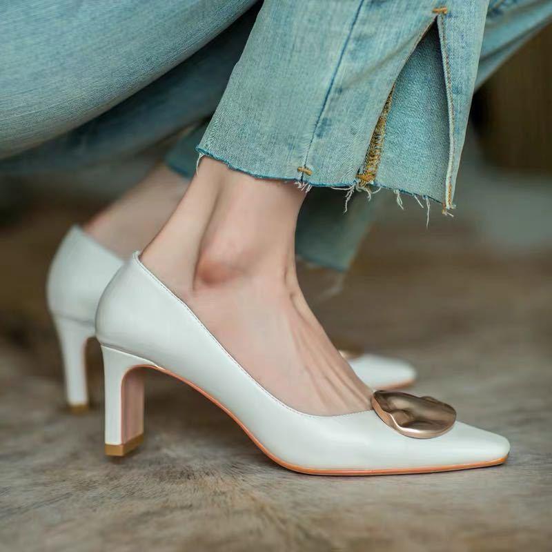 ✨✨รองเท้าคัชชูผู้หญิง ส้นสูง ทรงทางการ ✨รองเท้าส้นสูงแฟชั่น รองเท้าคัชชูผู้หญิง  ทรงทางการ รองเท้าคัชชูมีส้น รองเท้าแบบม