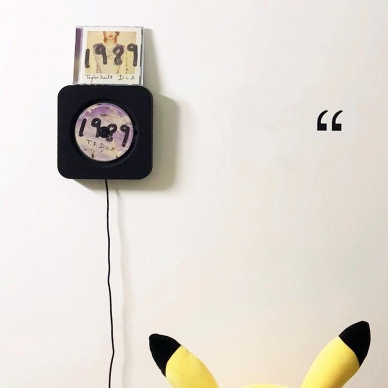 ❤️พร้อมส่ง❤️ เครื่องเล่นcd เครื่องเล่นซีดีพกพา ลำโพงติดผนัง เครื่องเล่นติดผนัง ฟังเพลงก็เพราะ แต่งห้องก็เก๋