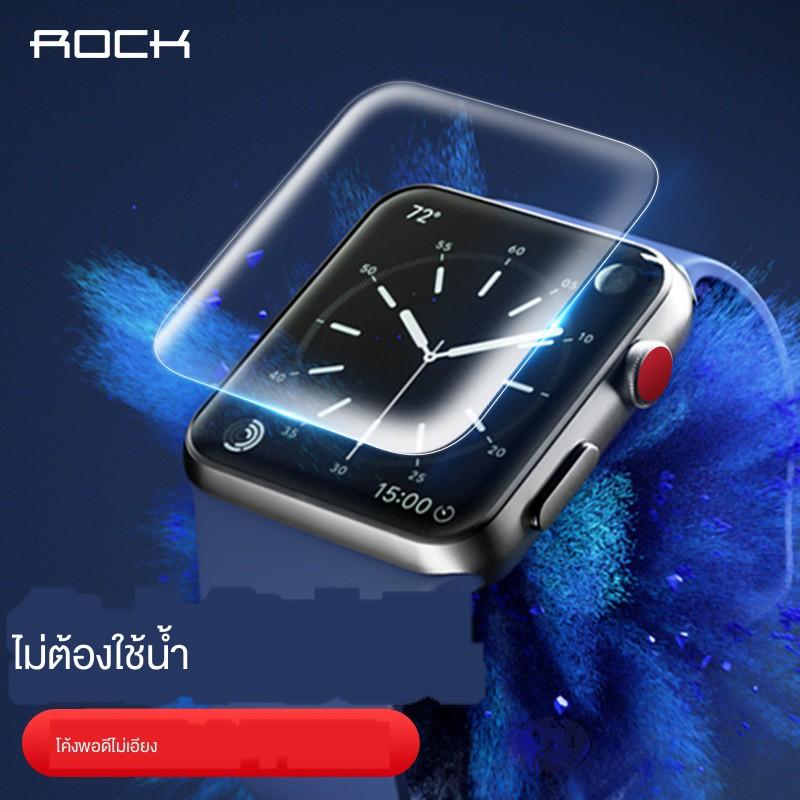 ✆ดูหนัง ROCK เหมาะสำหรับ apple watch6 ฟิล์มนิรภัยแบบเต็มจอ iwatch5 watch film series5 generation water gel applewatch i