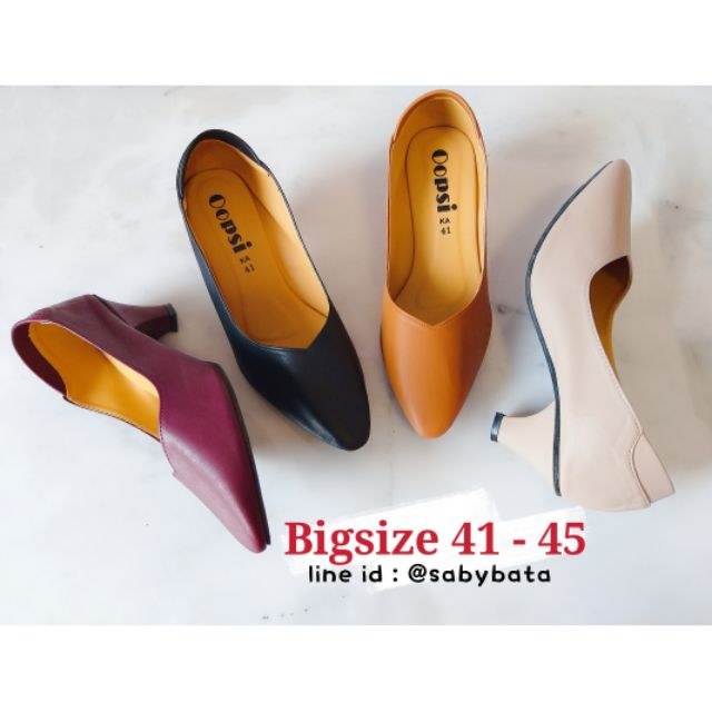 ⭐️ส่งทุกวัน⭐️ รองเท้าไซส์ใหญ่ Bigsize 41-45 👠 ส้นแหลม 2 นิ้ว รองเท้าผู้หญิงไซส์ใหญ่ รองเท้าคัชชู รองเท้าส้นสูงไซส์ใหญ่