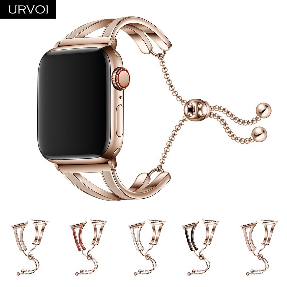 สายนาฬิกาข้อมือสแตนเลสสําหรับ Apple Watch Band Series 5 4 3 2