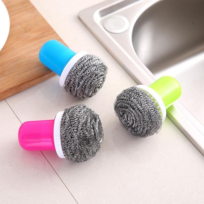 สีที่ใช้ในครัวเรือนน้ำยาล้างจานแปรงลวดจับลูกแปรงสแตนเลส