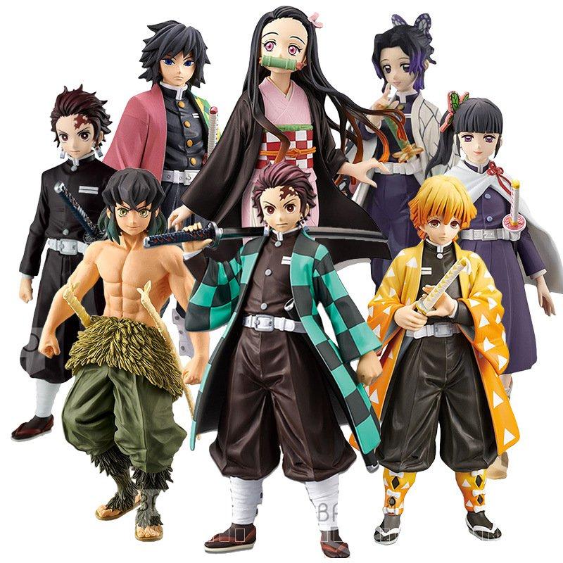 Demon Slayer รูป Kochou Shinobu รูป Kimetsu ไม่มี Yaiba Kamado Tanjirou Action Figure Agatsuma Zenitsu รูป