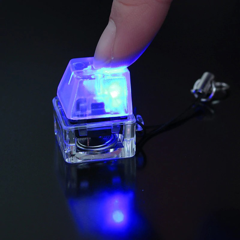 (พร้อมส่ง) Keycap Switch tester blue switch cherry MX Keycap เปลี่ยนได้ Blue LED
