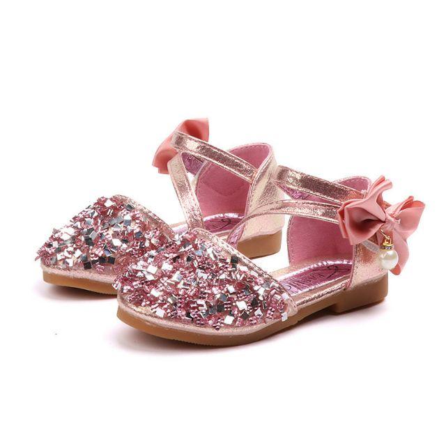 พร้อมส่ง รองเท้าคัชชูเด็กผู้หญิง 3สี เงิน ทอง ชมพู size24-36  ฿259-299 KMCi