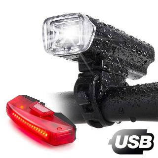 เปรียบเทียบBike Lights, Bike Headlight with [Free Biicycle Taillight], USB Rechargeable Waterproof Bicycle Lights Set Powerful Lumens LED Bike Front and Back for Adults Road Cycling Safety Flashlight