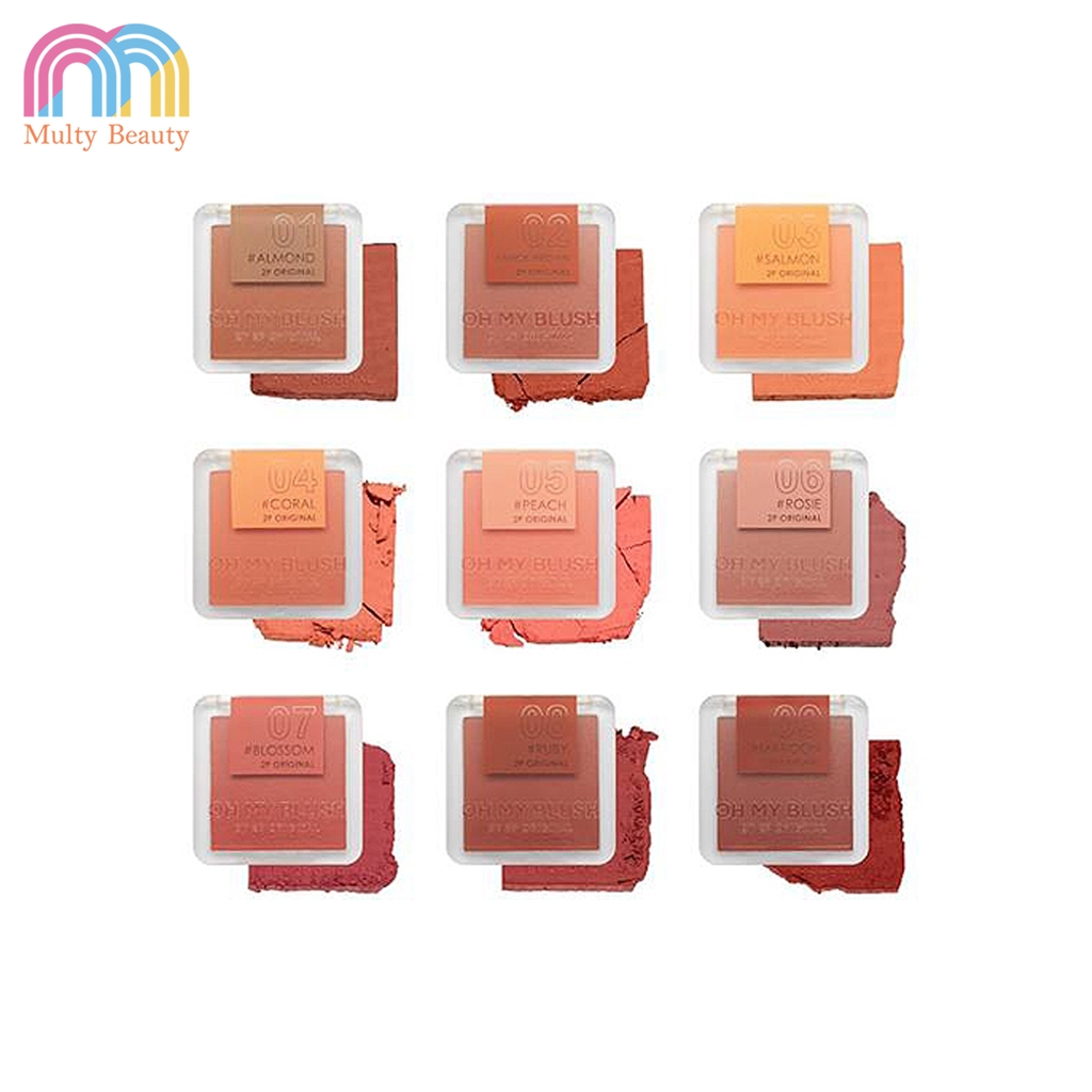 2P Original OH MY BLUSH บลัชออน 9 colors