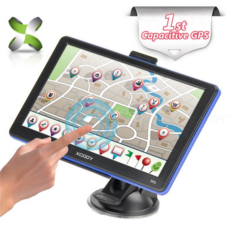 XGODY 886 Car GPS Navigation 7inch Touch Screen GPS Device with Built-in 8GB ROM
