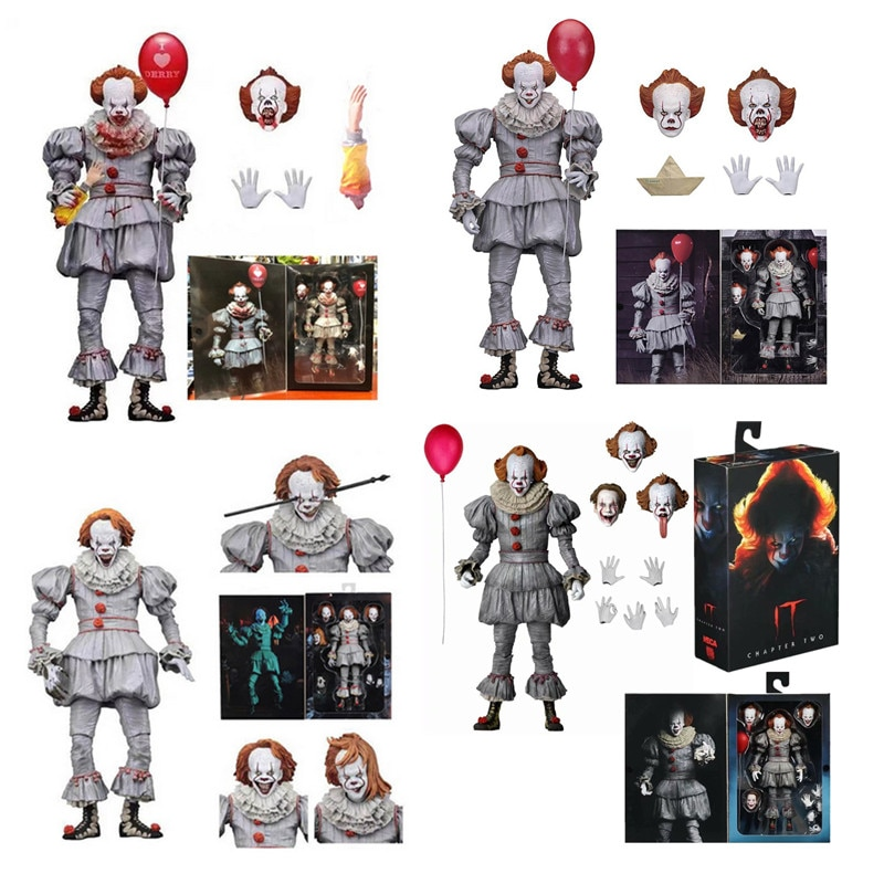 NECA  IT Pennywise Figure Chapter Two Ultimate Pennywise Action Figure Model Toy Horror Gift for Halloween Doll 18cm