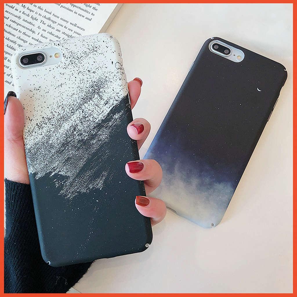 เคส Watercolor Night sky 🔥 iPhone 11 Pro Max SE 2020 XR X XS 7 8 6 6s Plus SE2 Apple11 แข็ง  Case ไอโฟน เคสโทรศัพท์