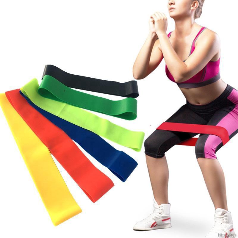 【COD】พร้อมส่ง! ยางยืดออกกำลังกาย แรงต้าน 6 ระดับ ยางยืดสะโพก กระชับสัดส่วน คุณภาพสูง
