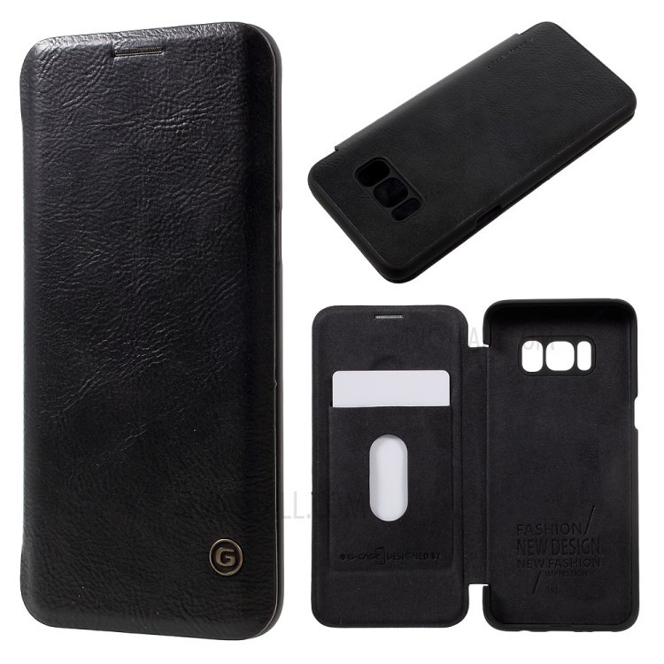 เคส G-Case Leather Protection Shell for Galaxy S8 Plus - Black  ของแท้สินค้านำเข้า