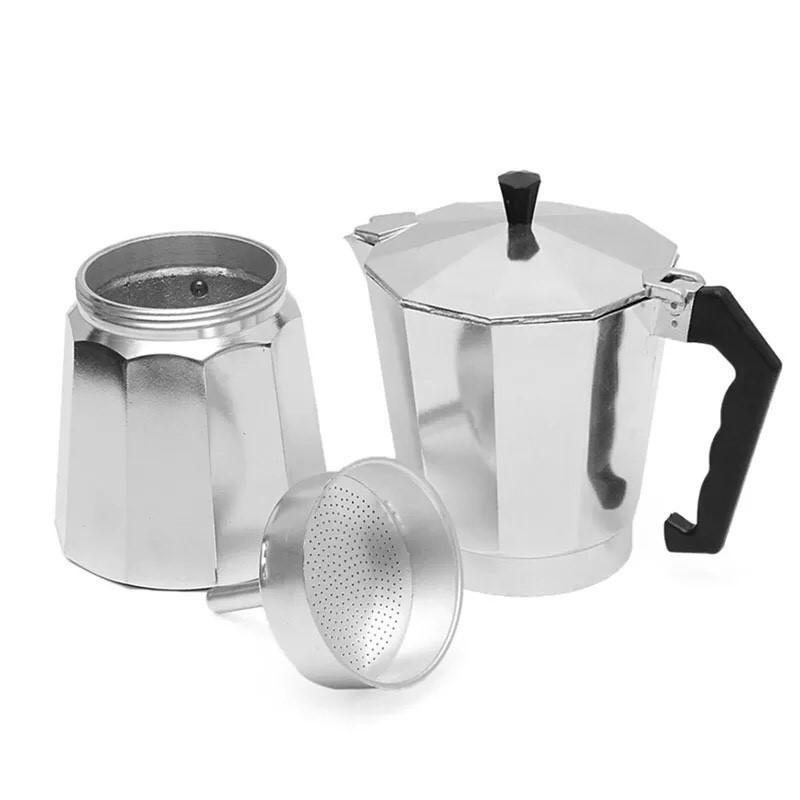 เครื่องชงกาแฟสด ด่วน ของมีจำนวนจำกัด กาต้มกาแฟสดเครื่องชงกาแฟสด Moka Pot แบบปิคนิคพกพา ใช้ทำกาแฟสดทานได้ทุกที ขนาด 3 Cup