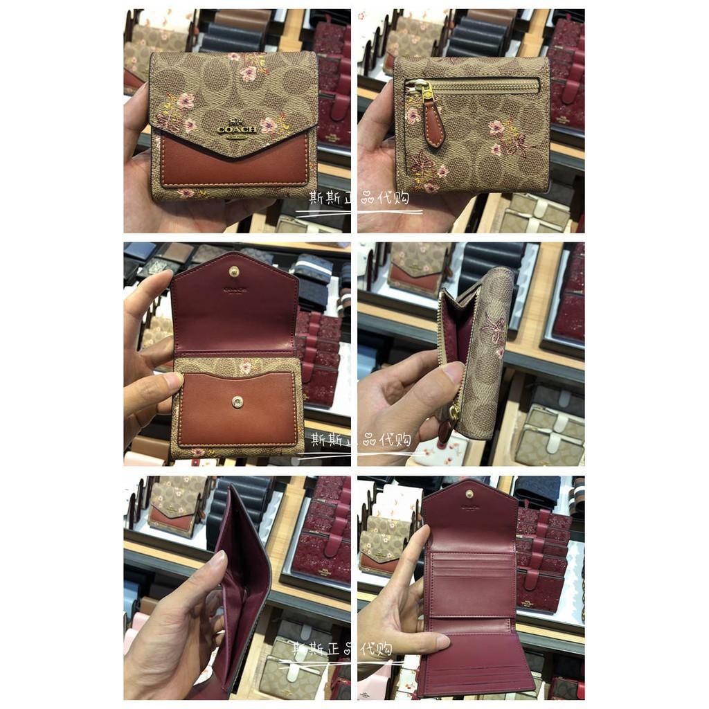 NEW ARRIVER Coachกระเป๋าสตางค์【พร้อมส่ง】(กล่องของขวัญ + ถุงเก็บฝุ่น + ใบแจ้งหนี้)กระเป๋าสตางค์ใบสั้นสุภาพสตรี  กระเป๋าสต