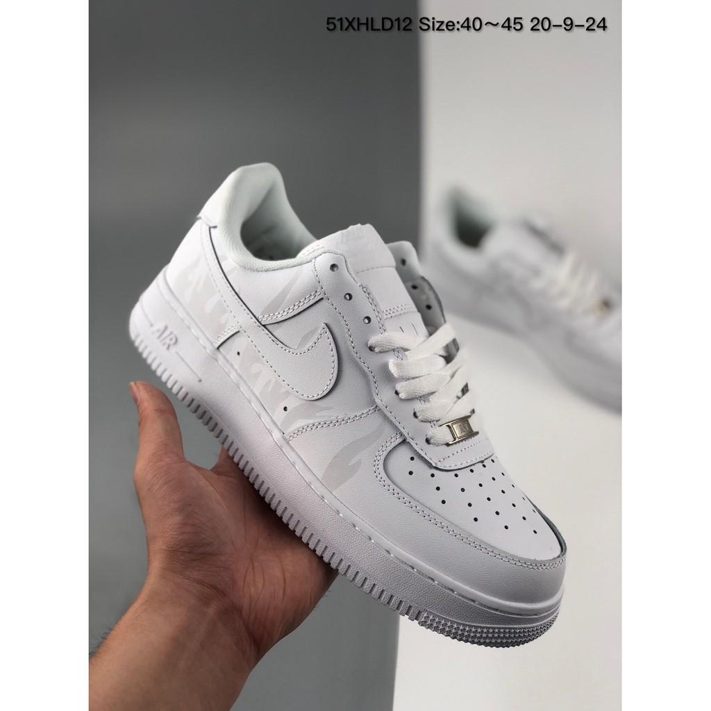 รองเท้าผ้าใบ Nike Air Force 1 Low สะท้อนแสงไซส์ 40~45
