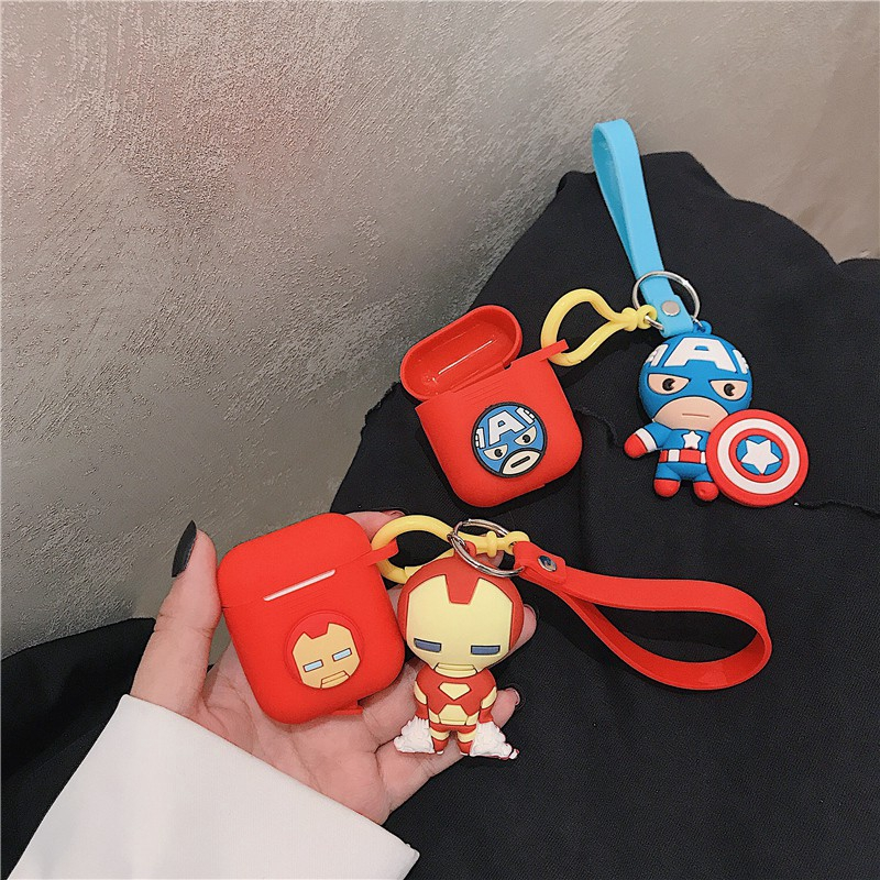 Apple AirPods Case airpods Covers Soft Case airpods 2 case Iron Man Captain