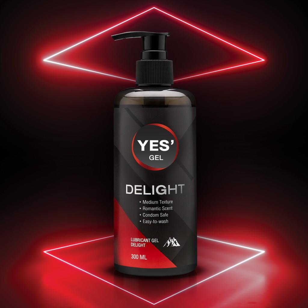 [ลดกระหน่ำเปิดร้านใหม่!] Yes Delight Gel เจลหล่อลื่น Water-Based ให้ความลื่นที่ยาวนาน กลิ่น Romantic Scent ปริมาณ 300ml.