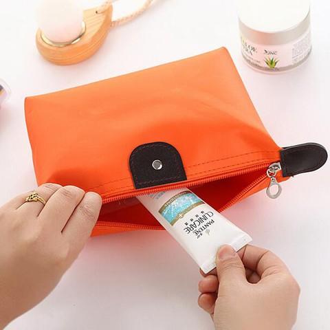 ▨❁ถุงเก็บเครื่องสำอางเกี๊ยวขนมเกาหลี, กระเป๋าใส่เครื่องสำอางแบบพกพา, กระเป๋าเดินทางใบเล็ก, กระเป๋าเครื่องสำอางกันน้ำ