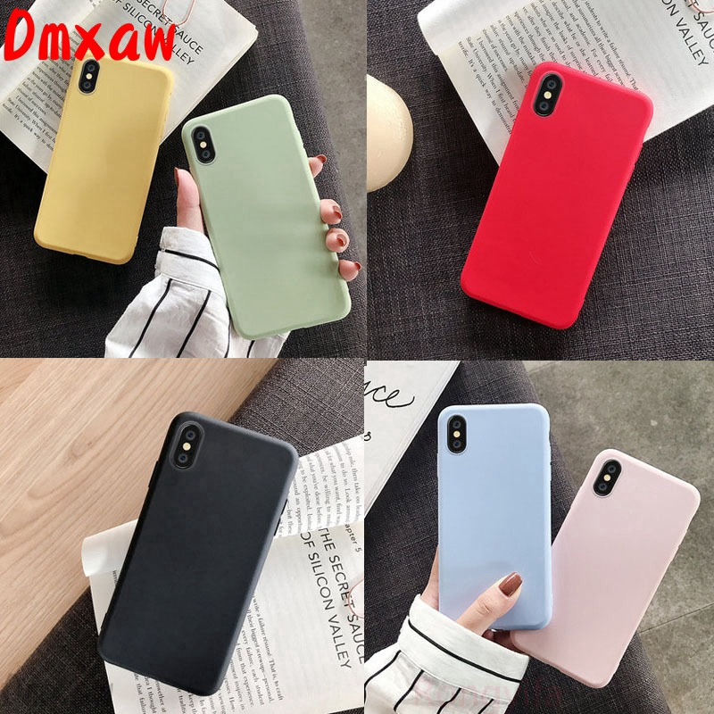 For OPPO A93 A73 A53 A32 2020 F17 Pro Reno 4 3 Pro 4G 5G Case Candy Color Silicone Ultra-thin Back Cover Shell