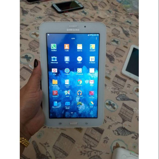 Samsung Galaxy tab3v แทปเลตมือ2 แทป3วี มีกล้องหน้าหลัง จอ7นิ้ว  ใส่ซิมโทรได้ สภาพดี