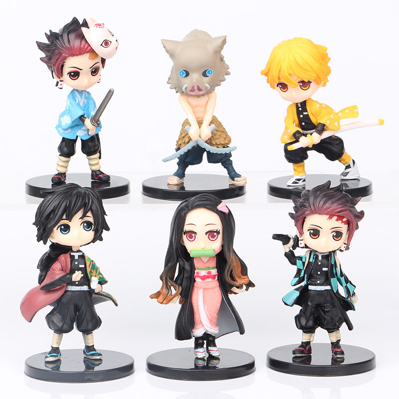 Demon Slayer Figure Ornaments 6 Q Version Toy Figures Model Collection (7cm)