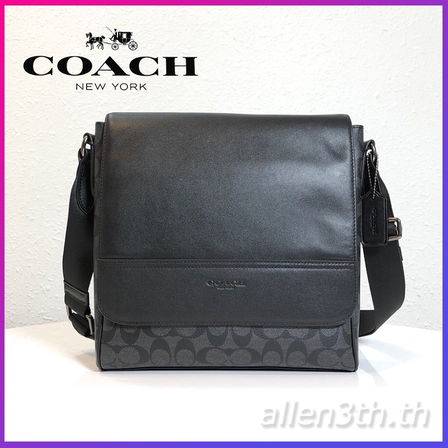กระเป๋า Coach แท้ F73339 กระเป๋าสะพายข้างผู้ชาย / crossbody bag / กระเป๋าเอกสาร / กระเป๋าสะพายไหล่หนัง