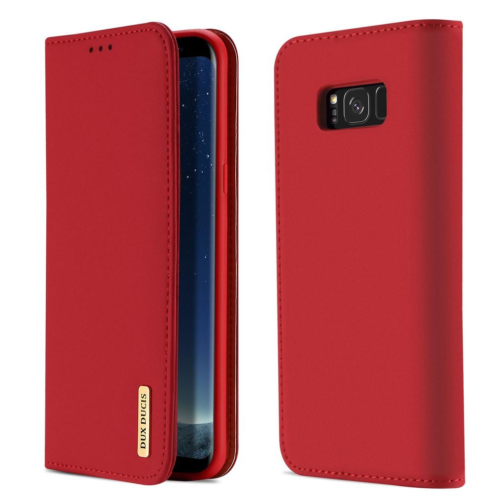 เคส Samsung Galaxy S8 โทรศัพท์มือถือหนังวัวแท้ Case Samsung S8 Casing Dux Ducis เคสหนังแบบพลิกได้หนังแท้ Samsung Cover