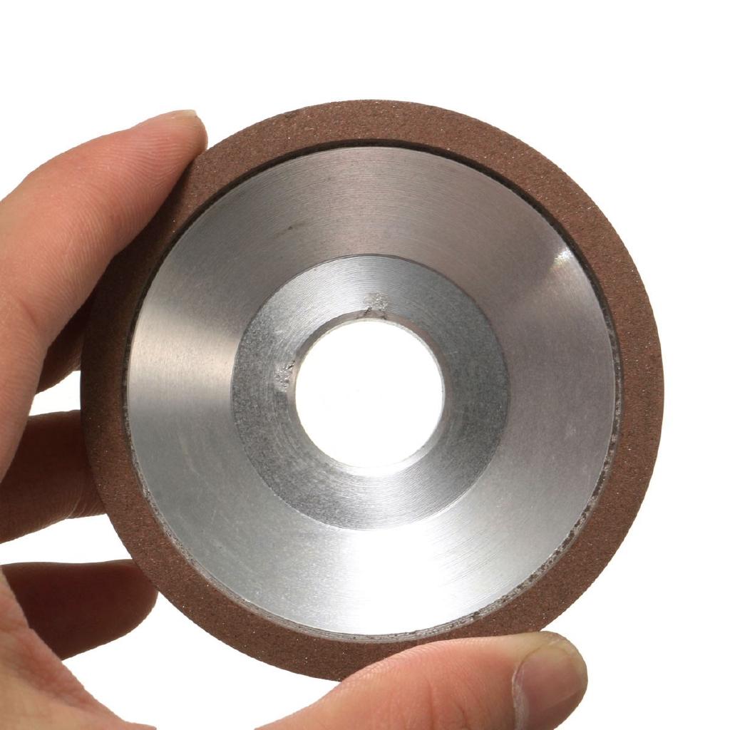 Silver Resin Diamond Grinding Wheel 75mm Dia Carbide Steel Cutter 180 Grit