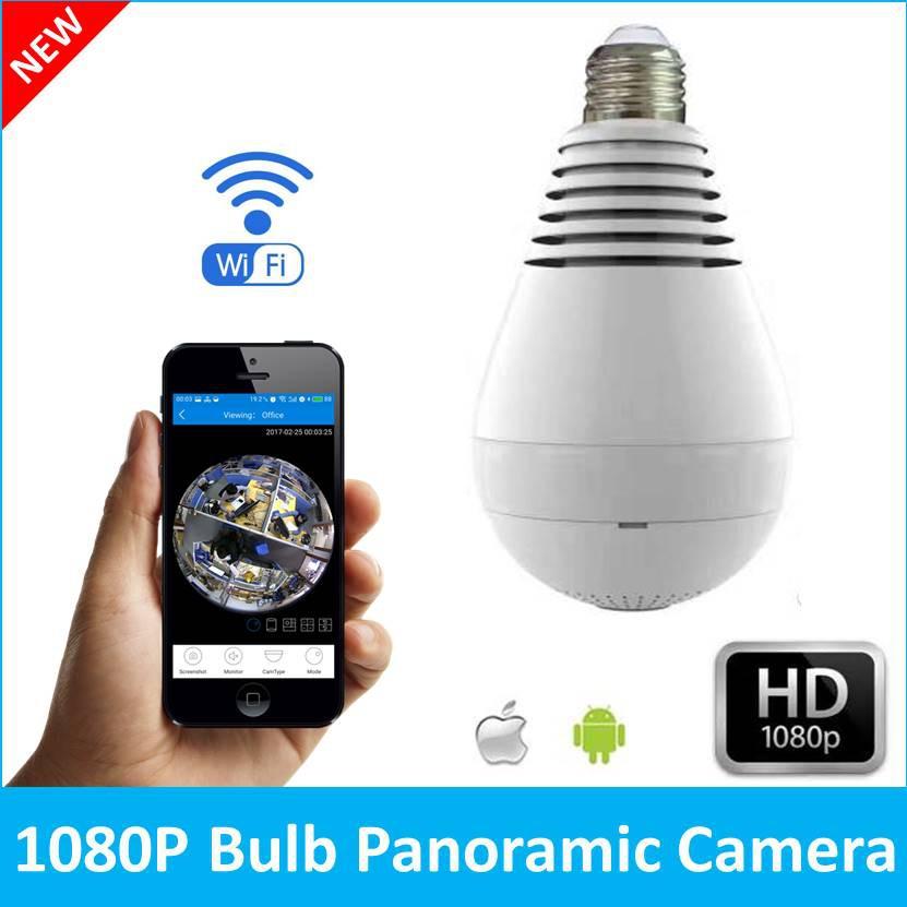 Mini Panoramic Wifi Wirless IP Fisheye 1080P 360 Degree Camera HD Video Surveill