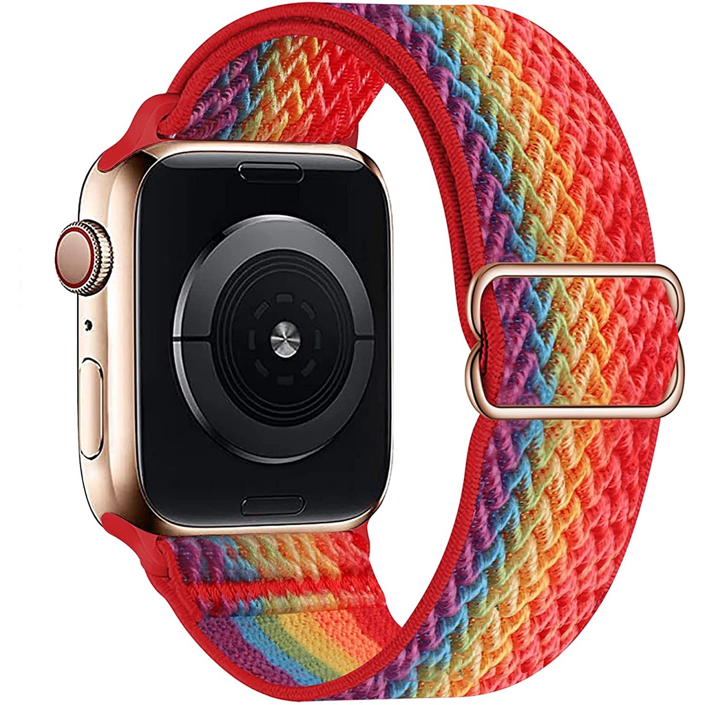 Nylon Solo Loop Nylon Strap For Apple Watch Band 6 3 4 44Mm 40Mm 38Mm 42mm Elastic Bracelet For Iwatch Series 6 SE 5 4 3
