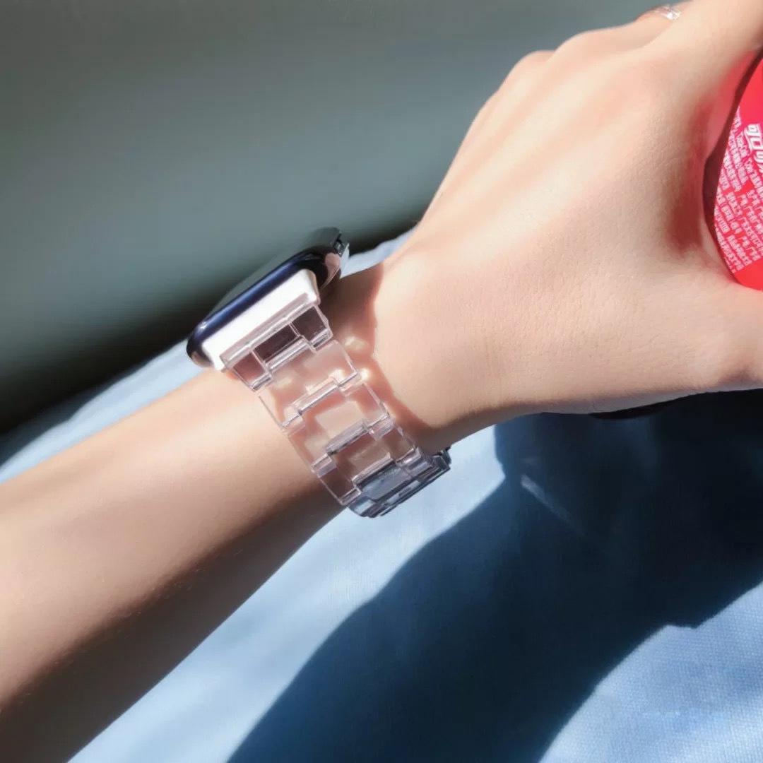 สายนาฬิกาข้อมือเรซิ่นแบบใสสําหรับ Apple Watch Applewatch 6